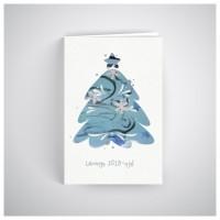 Kalėdinis atvirukas SOS034N