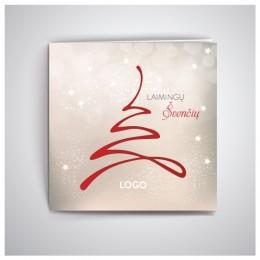 Kvadratinis Kalėdinis atvirukas GKW10