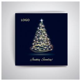 Kvadratinis Kalėdinis atvirukas GKW20