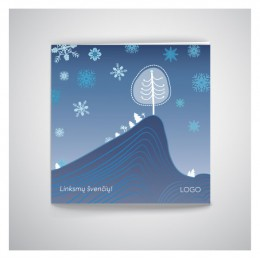 Kvadratinis Kalėdinis atvirukas IKW14