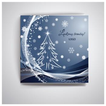 Kvadratinis Kalėdinis atvirukas IKW19