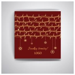 Kvadratinis Kalėdinis atvirukas IKW30
