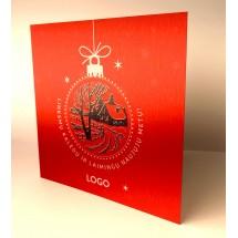 Kalėdinis atvirukas Red004