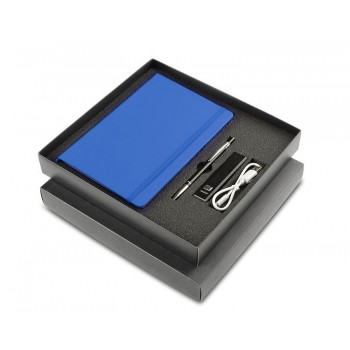 Black box for 3 elements (notebook + ball pen + power bank)