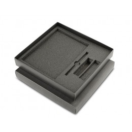 Black box for 3 elements (notebook + ball pen + power bank)