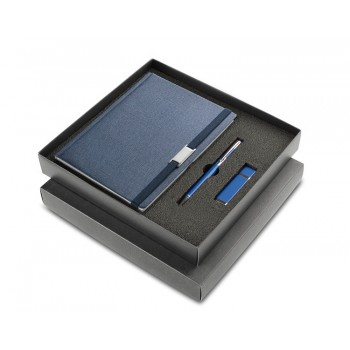 Black box for 3 elements (notebook + ball pen + USB)
