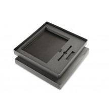 Black box for 3 elements (organizer + ball pen + USB)