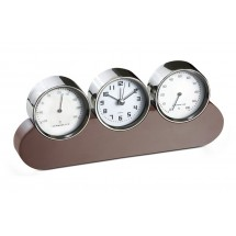 Alarm clock with thermometer and hygrometer
