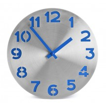Wall clock  DIGIT blue