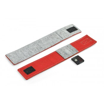 Felt watch red