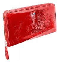 Wallet MARGARET with Swarovski crystal red