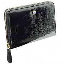 Wallet ELIZABETH with Swarovski crystal black