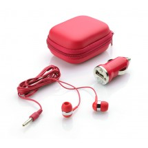 Travel set (car charger, earphone)