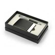 Set - ball pen, business card holder, keychain