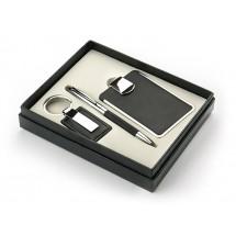 Set - ball pen, business card holder