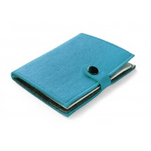 Felt notebook light blue