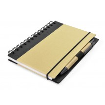 Notebook with pen black