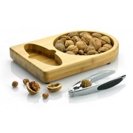 Bamboo nut cracker