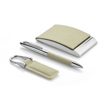 Gift set - business card holder, keychain, ball pen