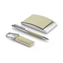 Gift set - business card holder, keychain, ball pen