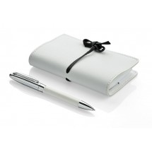 Gift set - notepad, ball pen white