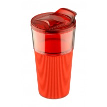Travel mug VIDA 400ml red
