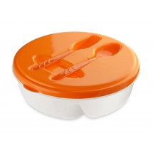 Food container with spoon and fork
