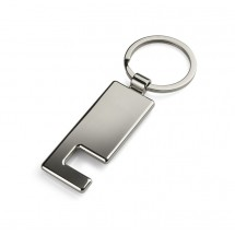 Keychain with phone holder and screen cleaner