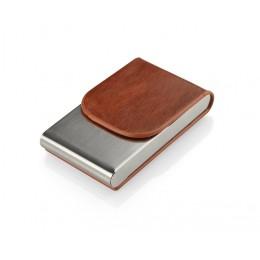 Business card holder LER brown