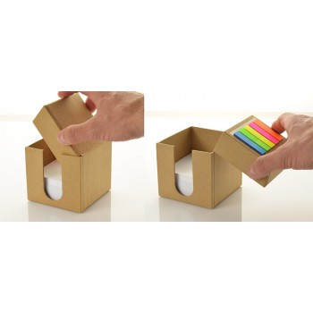 Cube - eco pen holder with memo sticks and a ball pen