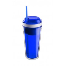 Mug with snack compartment SNACK 480 ml + 230 ml blue