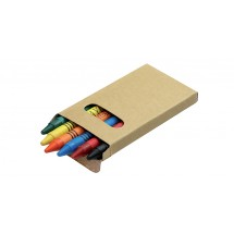 Crayons in paper box - 6pcs