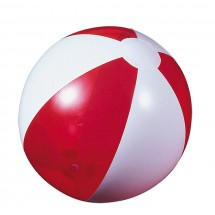 Beach ball red transparent