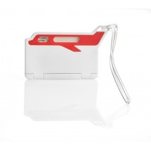 Luggage tag airplane red