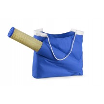 Beach bag with mat blue