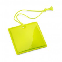 Reflective hanger yellow square