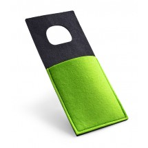 Felt phone holder light green