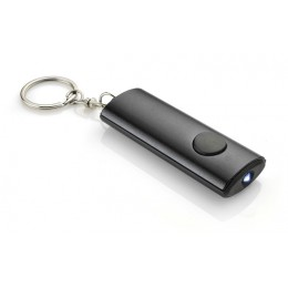 Keychain with flashlight black