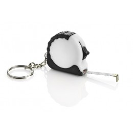 Keychain - tape measure white