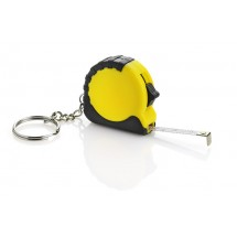 Keychain - tape measure yellow
