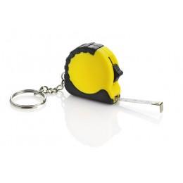 Keychain - tape measure yellow