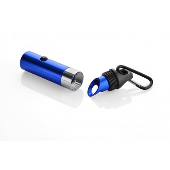 Flashlight 6LED with bottle opener and carabiner blue