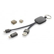 USB cable 2in1 MOBEE black
